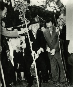 写真:卒寿記念植樹