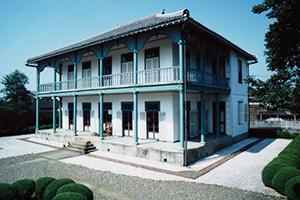 熊本洋学校教師ジェーンズ邸の写真